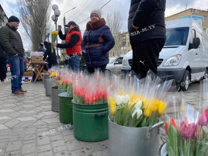 Что почем на цветочных рынках в Мелитополе 8 марта (фото, видео)