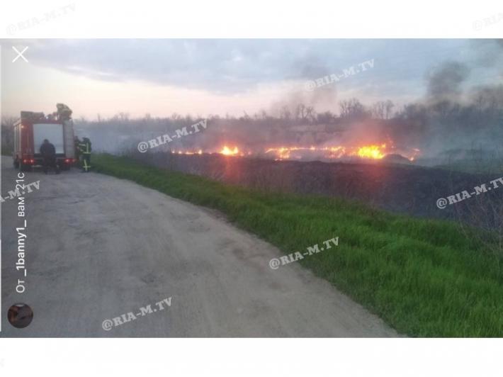 В Мелитополе масштабный пожар возле АЗС (фото)