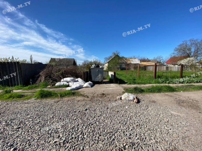 В Мелитополе жители частного сектора нашли голову, торчащую из мешка (фото 18 плюс)